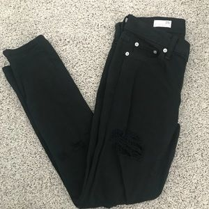 Gap 1969 girlfriend jeans black distressed 25